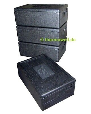 4 x Profi Thermobox Isolierbox 1/1 GN 167mm Nutzhöhe, Thermobox 1 1 GN