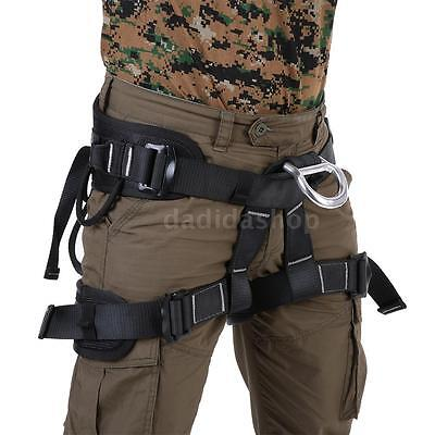 Professional Safety Rock Tree Climbing Rappelling Harness Seat Bust Belt H4O7