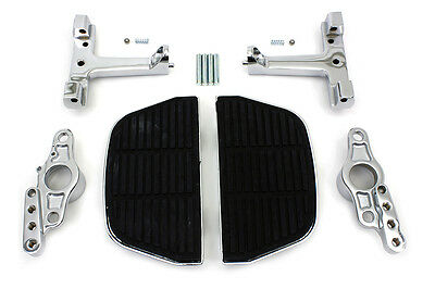 Passenger Footboard Set with Swingarm Mount Kit for Harley FLT  Touring Models