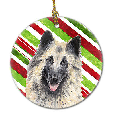 Belgian Tervuren Candy Cane Holiday Christmas  Ceramic Ornament SC9352
