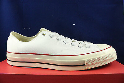 Converse Chuck Taylor 70 Ct Ox Low White Red Blue 1970 All Star 149448C Sz  10.5 0555cdb5d