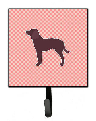 American Water Spaniel Checkerboard Pink Leash or Key Holder