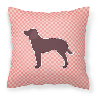 American Water Spaniel Checkerboard Pink Fabric Decorative Pillow