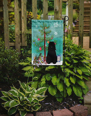 Merry Christmas Tree Bouvier des Flandres Flag Garden Size