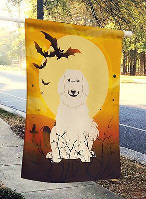 Carolines Treasures  BB4349CHF Halloween Great Pyrenese Flag Canvas House Size
