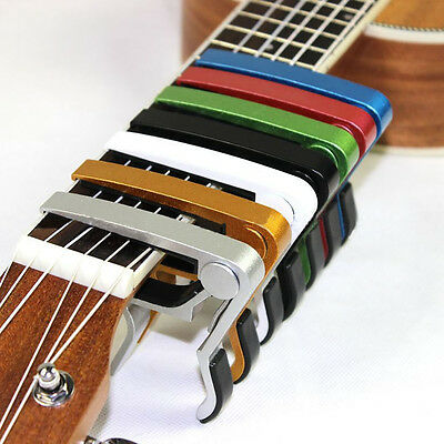 Quick Change Tune Clamp Key Trigger Capo For Acoustic Electric Guitar Basses