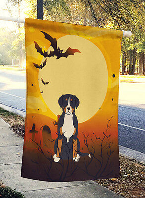 Halloween Greater Swiss Mountain Dog Flag Canvas House Size