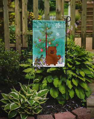 Merry Christmas Tree Chow Chow Red Flag Garden Size