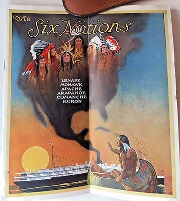 Native American SIX NATIONS Apache Comanche Clyde Steamship Co 1914 Brochure