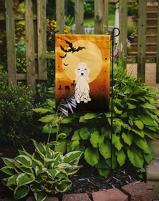Halloween Bedlington Terrier Sandy Flag Garden Size