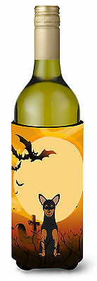 Halloween Manchester Terrier Wine Bottle Beverge Insulator Hugger