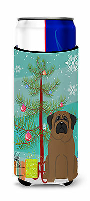 Merry Christmas Tree Bullmastiff Michelob Ultra Hugger for slim cans