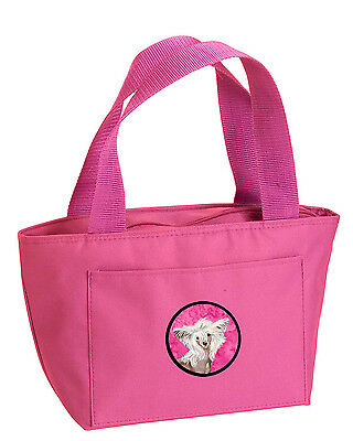 Carolines Treasures  LH9392PK-8808 Pink Chinese Crested  Lunch Bag or Doggie Bag