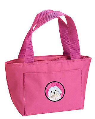 Carolines Treasures  SS4758-PK-8808 Pink Maltese  Lunch Bag or Doggie Bag SS4758