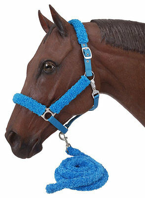Fuzzy Horse Halter and Lead Set - 6 Colors available NEW