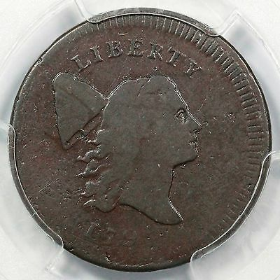 1795 C-6b R-5+ PCGS F 12 Pl Edge, No Pole Liberty Cap Half Cent Coin 1/2c