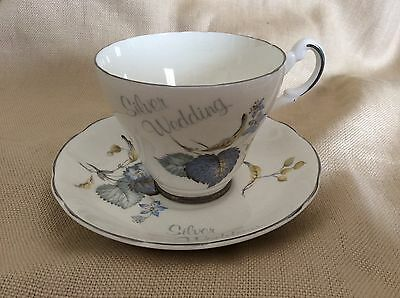 ARGYLE CHINA CUP & SAUCER SET- Silver Wedding