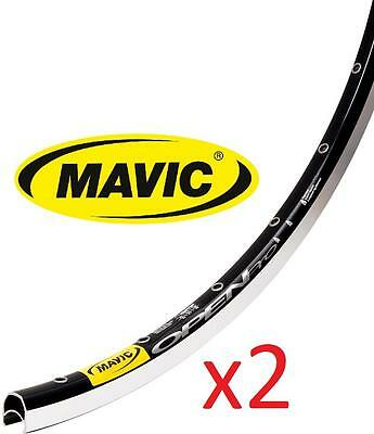 2x MAVIC Open Pro 700C 32H Rim Welded Join Machined Brake Surface Anodised BLACK