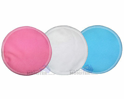 Cloth Breast Nursing Pads Washable Reuseable Eco Bamboo Waterproof Solid Colour