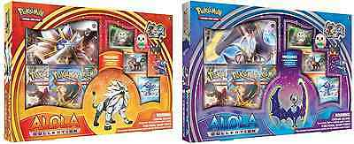 Pokemon Sun Moon Alola Collection Box Solgaleo / Lunala Gx Promo + Booster Packs
