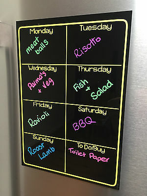 Family Meal Job planner board / various colors available white black gloss