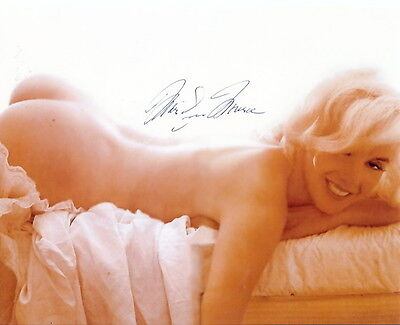 Marilyn Monroe (Deceased) Dec 1953 PLAYBOY PLAYMATE NUDE CANDID SIGNED RP 8X10!!