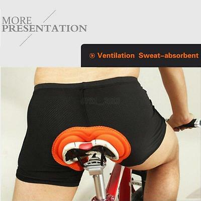 Mens Cycling Sports Underwear Padded Gel 3D Bike Bicycle Short Pants Comfortable