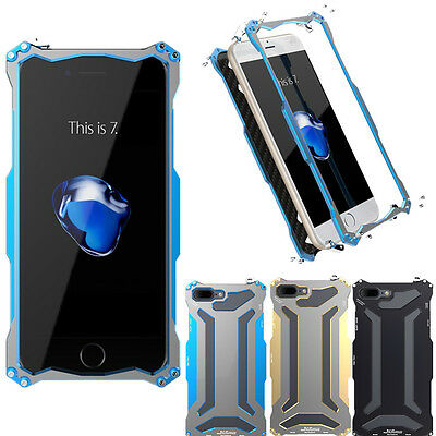 R-Just Doom Aluminum Shockproof Metal Heavy Duty Cover Case for iPhone 7/ 7 Plus
