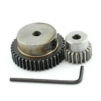 1M-40T-20T Module 1 Motor Metal Gear Wheel Set Kit Ratio 2:1 Wheelbase 30mm