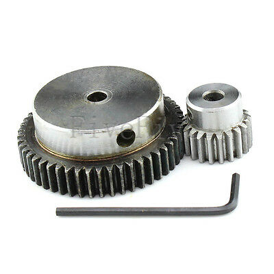 1 Module Motor Metal Spur Gear 50/20T Width 10 Set Kit Ratio 5:2 Wheelbase 35mm