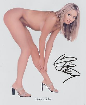 """Stacy Keibler TOTALLY """"au naturel"""" PROMO WWE RARE (NICE BUTT) SIGNED RP 8x10!!!"""