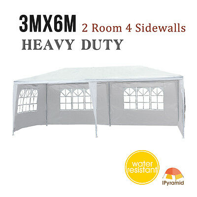 3mx6m Waterproof Outdoor Party Tent Gardern Gazebo Pavilion Wedding Marquees