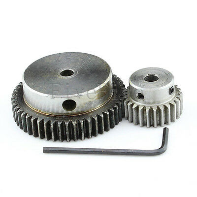1 Module Motor Metal Spur Gear 50/25T Width10 Set Kit Ratio 2:1 Wheelbase 37.5mm