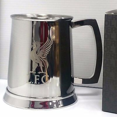 Liverpool Glass Bottom Tankard - Stainless Steel - Ideal Football Gift