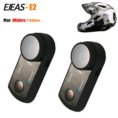 Dual Pack Up to Pair 4 Riders Bluetooth Motorcycle Interphone Universal Headset