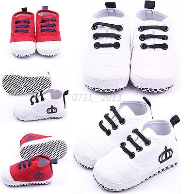 Infant Baby Girl Boy Sneakers Soft Sole Anti-slip Crib Shoes Newborn to 12Months
