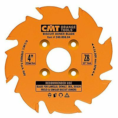 Circular Saw Blade, 8Teeth Steel Ptfe-Coated Carbide-Tipped, Fits Lamello DeWalt