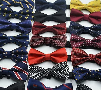 Men Boys Novelty Adjustable Tuxedo Bow Tie Matching Bow Tie Set Wedding Necktie