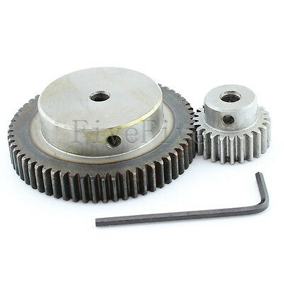 1 Module Motor Metal Spur Gear 60/24T Width 10 Set Kit Ratio 5:2 Wheelbase 42mm
