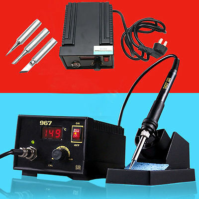 110V 220V 967 SMD LCD Display Desoldering Electric Rework Soldering Station Iron