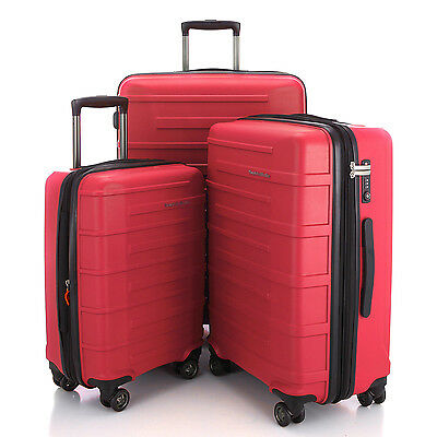 "HAUPTSTADTKOFFER Ost 20""24""28"" Luggage Suitcase Set Travel Bag TSA Trolley Red"