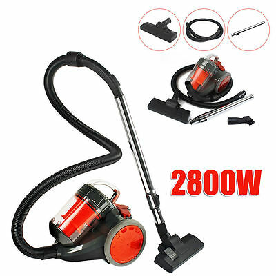 2800W Compact Bagless Vacuum Cleaner Cyclone Filtration System Combi Floor Brush