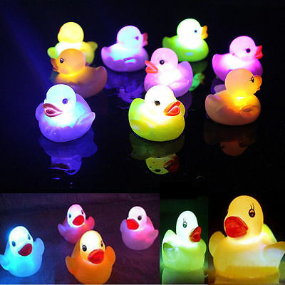 3pcs Baby Bath Bathtime Toy Multi Color Changing LED Lamp Light Yellow Duck