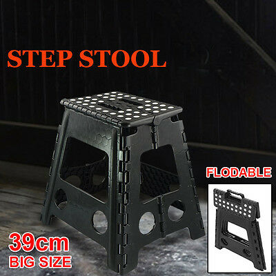 Multi Purpose 39cm Folding Step Stool Chair Home Kitchen Foldable Carry Storage