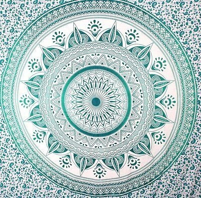 Indian Mandala Ombre Tapestry Hippie/ Bohemian Tapestry Twin Size Au Ship