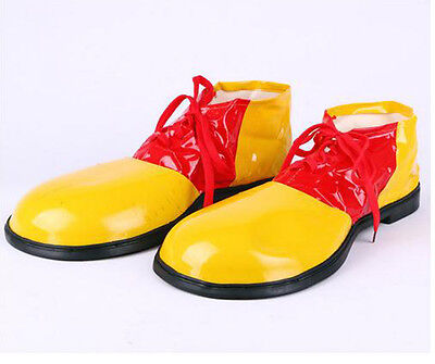 Adult Clown Yellow Red Shoes Funny Dress Carnival Xmas Party Costume Accessory