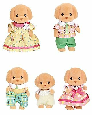 Five Sylvanian Families Stuffed Animals Sets Sold Together- Toy Poodle Family