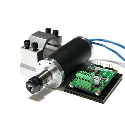 250w ER11 12000rpm BLDC spindle motor&MACH3 Driver&power supply&bracket CNC kits