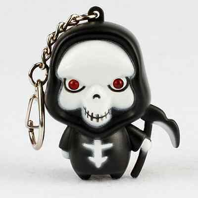 Toy Gift White/Red Ghost LED Flashlight Halloween Death Skull Action Figure NEW