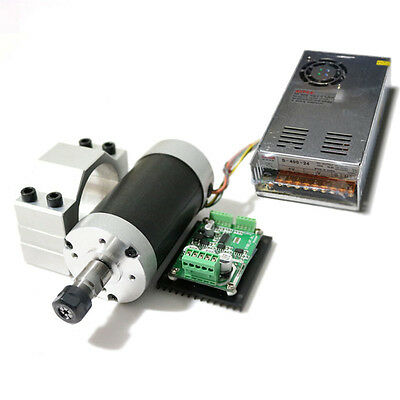 500w er11 12000RPM Brushless spindle motor&MACH3 Driver&power supply&bracket CNC